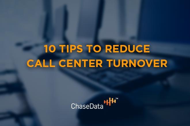 reduce call center turnover