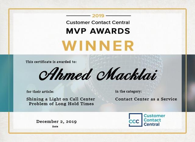 Ahmed Macklai Certificate