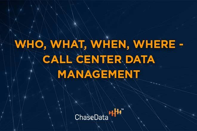 call center data management