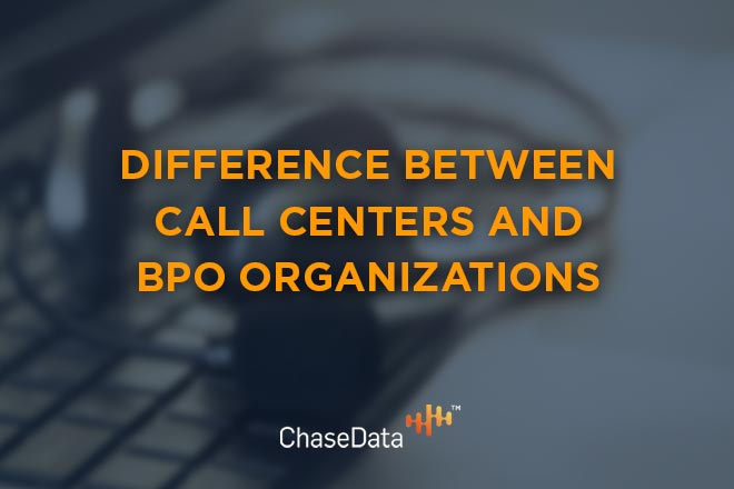 difference between call centers and BPO